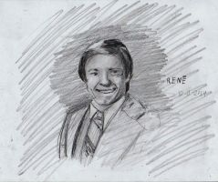 Kevin Spacey portrait sketch by FuzzyMonkeyMan
