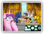 3 Princesses Alicorns inside The TARDIS by EGStudioMexico