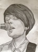Tegan Quin Pencil Drawing by FrankTheSixFootBunny