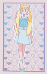 Usagi in Pastels by CloudyQuartz