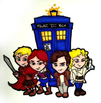 The Doctor and His Companions by dmiller87