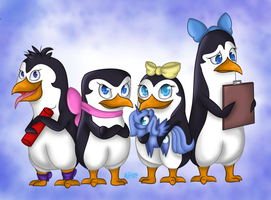 Lady Penguins by Miiv12