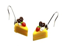 Neon Slice Cake Earrings by SweetandCo