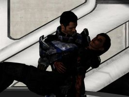 mass effect 3 - Kaidan rescues Shepard by lealea25
