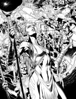Blackest Night 3 pgs16-17 inks by sinccolor