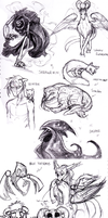 AATR OCs: Horrendously bad sketch dump by JarODragon