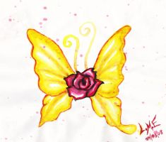 A Butterfly rose by Enigmatic-Ki