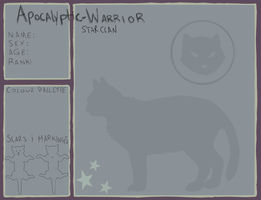StarClan Application Sheet- AW by sheeplesnight