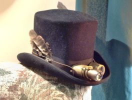 Begoggled Top Hat by VynetteDantes