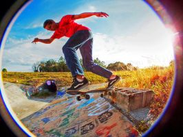 HDR Skateboarding Jeff Macar by ADDanny