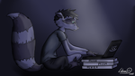 Hacking Raccoon ! by Lilium32