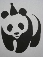 panda stencil by nathans-owl