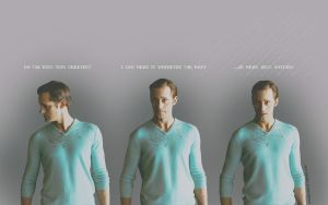 Eric's Aqua v-necked sweater by aly815