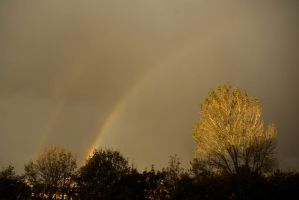 Rainbow from my balcony 2 by steppelandstock