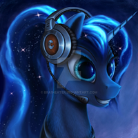 Gamer Luna by Bra1nEater