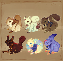 Squirrel Adopts! .:Closed:. by Pieology