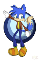 Commission: Andy The Fox - Sonic Channel Style by Flame-of-Icarus