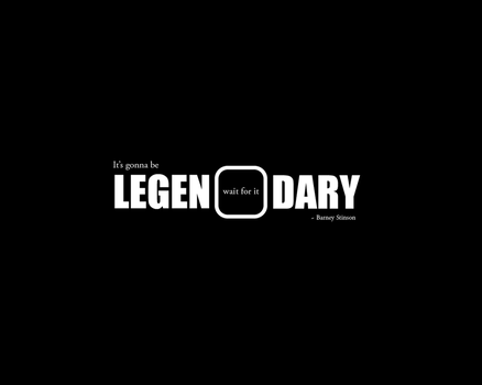 LEGEN...wait for it...DARY - Barney Stinson by Attentatosch