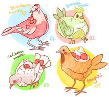 (CLOSED) COOKIE DOVE adoptables! - jpn sweets! by xAerisx