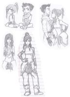 Legend of Korra Sketch Dump by Jazzie560