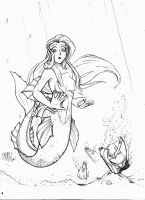 Mermaid Commission by NotEricMrock