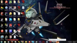 my new laptop background and clean Desktop... by XBrokenMirrorGlassX
