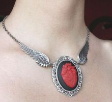 Anatomical Heart tattoo choker by Pinkabsinthe