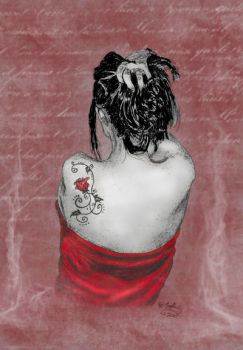Sophie's back and tattoo by Useless-girl