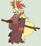 Delphox is a mop dog by Iron-Zing