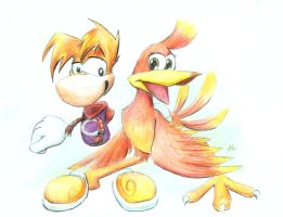 Rayman and Kazooie by SirKittenpaws