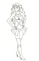 Sailor Coronis Lineart by xSoraliciousx