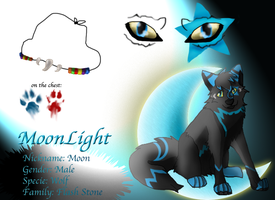 Oc Reference: Moonlight by Rainwolflover