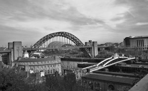 Tyne and Swing Bridge (Black and White) by DocChaosZ7-X