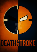 Deathstroke Minimalism by skellerone