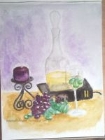 Wine and Grapes by kaylew