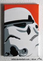 Storm Trooper pop art painting by rbl3d