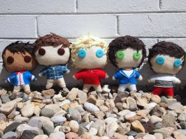 One Direction Plushies by Green-Tea-Monster