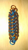 Chainmaille Roundmaille Sample by lance-boudreaux