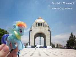 Rainbow Dash in the Revolution Monument(Mexico,DF) by DarkBrony181