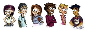 Commission - 6Teen 'Gravity Falls style' by CherryVioletS