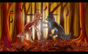 collab: FROLICKING IN THE WOODS BITCHES by meteorcrash