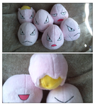 exeggcute plush by LRK-Creations