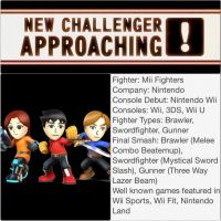 Smash Bros. 4 Newcomer #7 Mii Fighters by FireFeyRose412