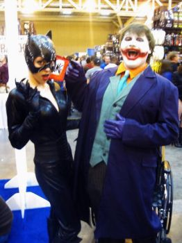 Catwoman and The Joker by OCCxHarleyRider