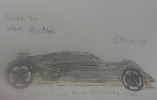 Black Fiction Racer from Majorette (drawing) by Wael-sa