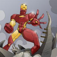 Iron Man by dmeaves