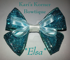 Disney Inspired Bow - Elsa by aidahayou