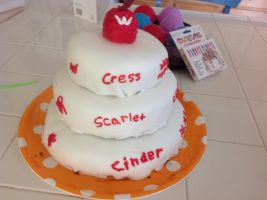 Lunar chronicles cake by Awesomerandomperson6