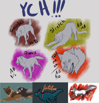 YCHs AVAILABLE by BlackTailwolf