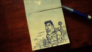 Just watching the world from a Post-it by kalnobe